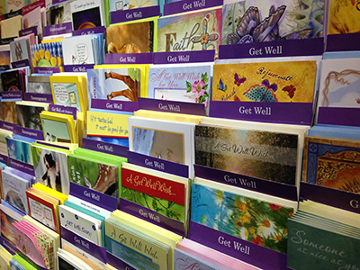 Cards at the Meritus giftshop